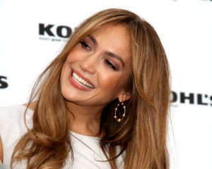 Jennifer Lopez medium soft brunette with natural beige highlights